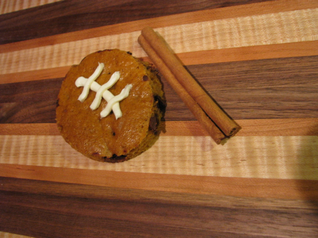 Delicious pumpkin footballs
