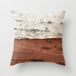 Birch Tree Bark pillow Cover by Brooke Ryan Photography
