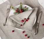 Natural Linen Table Napkins by Linen Home Shop