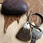 Stoneware Mountain Key Chain from Studio by the Forest