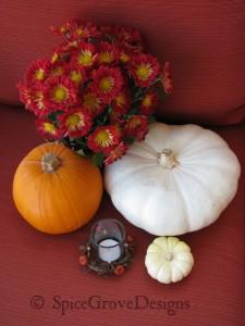Pumpkins or flowers