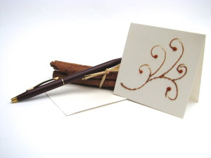 handmade card, scented card