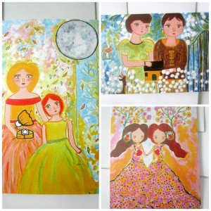 Your choice of three cards from 'Art For Happy People'