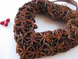 Spiced heart wreath