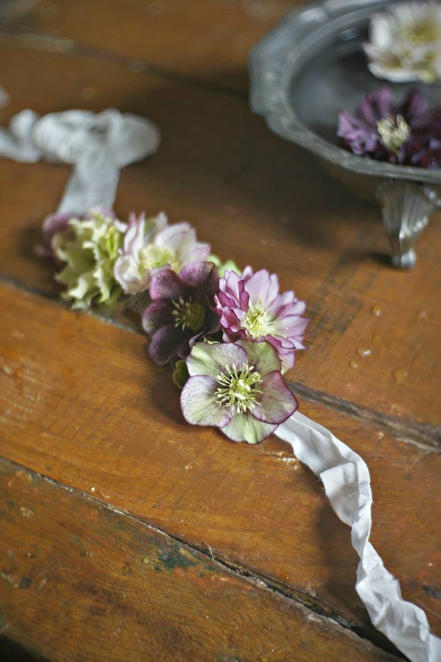 Hellebores Headband from Fleuropean