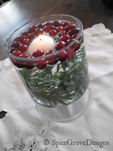 Rosemary and cranberries