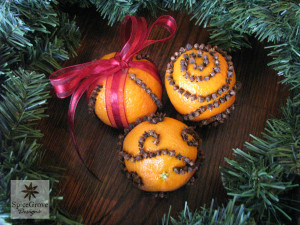 A gorgeous set of orange pomanders