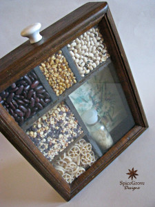 Closeup of spice box